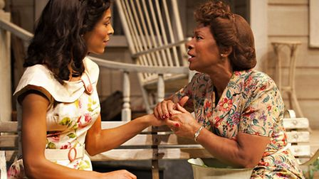 All My Sons by Arthur Miller, Talawa theatre company and New Wolsey Theatre. Ann (Kemi-Bo Jacobs) an