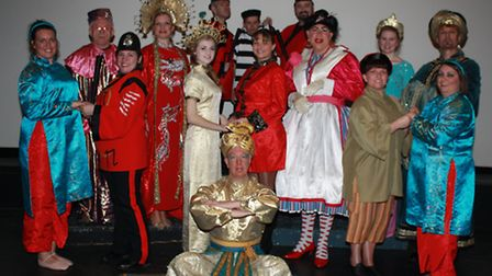 The Company of Four stage traditional pantomime Aladdin