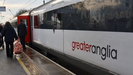 A Greater Anglia train. Picture: Sonya Duncan.