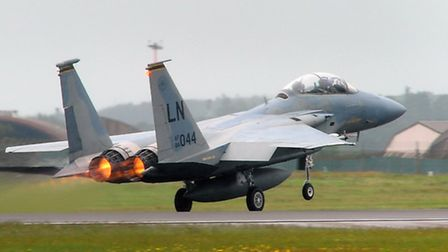 A F-15D of the type which crashed in Lincolnshire. Photograph: Simon Parker