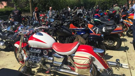 People enjoying the Burston Corwn's Beer, Bikes and Band's event, which rasied more than £7000 for c