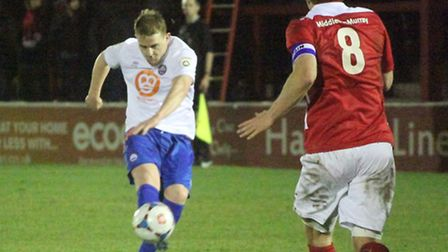 Iron's Charlie Strutton, who has joined Maidenhead United on a one-month loan deal