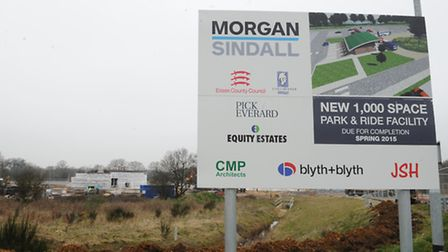 Work underway at the new Colchester Park and Ride