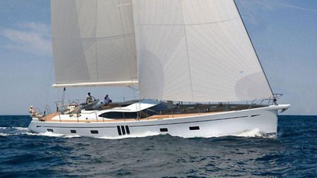 An Oyster Yachts 825 model.
