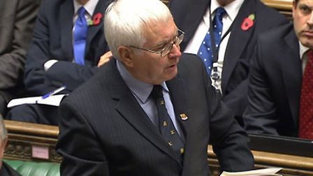 Colchester MP Sir Bob Russell speaking in the House of Commons