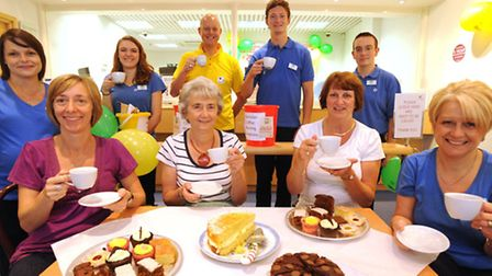 An Ipswich Building Society fundraising event for Macmillan, part of the society's community outreac