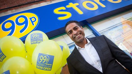 Hussein Lalani, son of founder Nadir Lalani, outside one of the familly's 99p Stores branches.