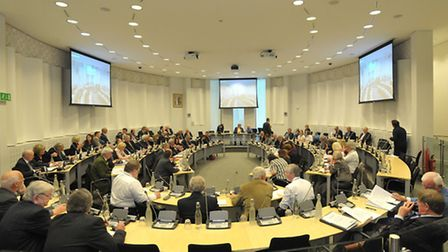 Suffolk County Council will be considering its budget on Thursday.