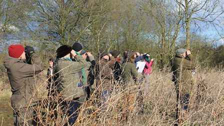 Farmers at the Witham farmland bird identification session.