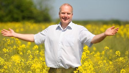 Lawrence Frohn at Hillfarm Oils near Halesworth. The rapeseed oil plant grower are having a good yea