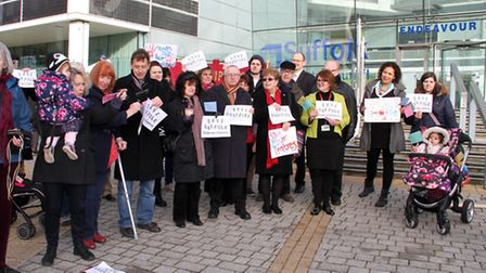 Protestors fought a long campaign to try to save children's centres.