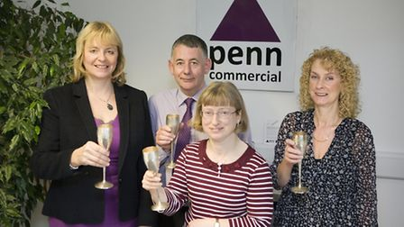 From left, Vanessa Penn, Paul Keen, Tracy Vale and Beverley Jacobs at Penn Commercial in Ipswich.