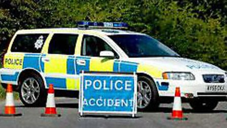 Two vehicle accident on A140