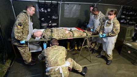Colchester-based 16 Medical Regiment on a recent training exercise, Exercise Serpents Delivery.