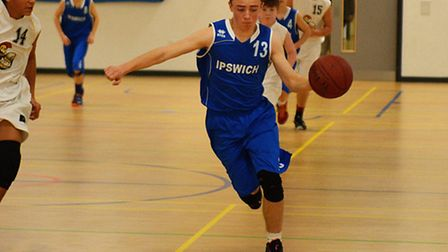 Pacey McLauglin, Ipswich U14 boys, bringing the ball out of defence