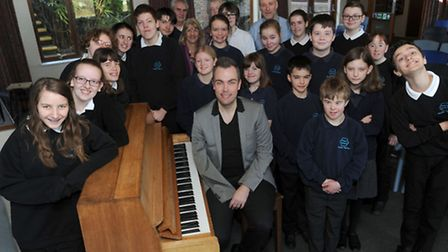Pianist, Nicholas McCarthy is at the Priory School in Bury running a workshop with the pupils.