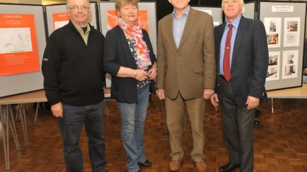 Parish chairman Dick Jenkinson, far right, pictured at a previous public event in the village with o