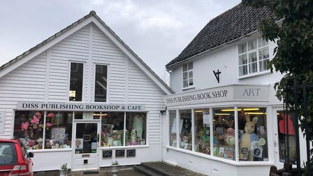Diss Publishing, an independent family-run book store on Mere Street in Diss. Photo: Harriet Orrell