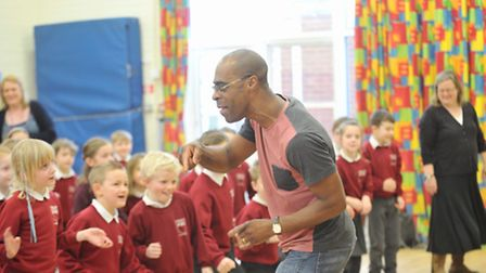 Children at Sir Robert Hitcham's Primary School in Framlingham took part in a musical workshop with
