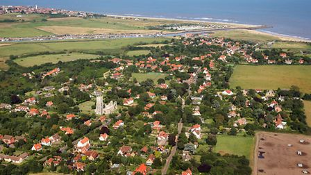 EADT Mike Page Aerial Photo Library Walberswick and Southwold PICTURE COPYRIGHT MIKE PAGE