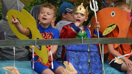 The 2nd Diss Scouts underwater in the Diss Carnival parade. Picture: DENISE BRADLEY