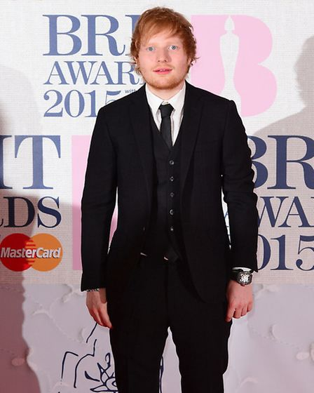 Ed Sheeran arriving at this year's Brit Awards. Picture: Dominic Lipinski/PA Wire