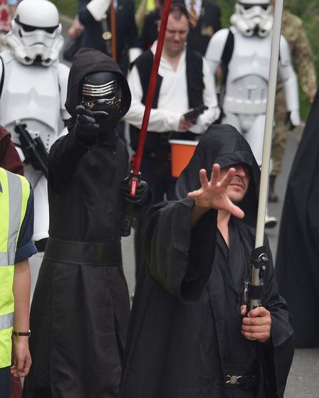 Norwich Star Wars group in the Diss Carnival parade. Picture: DENISE BRADLEY
