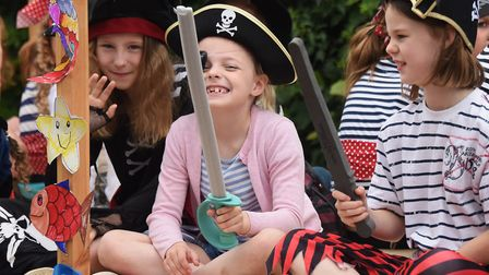 Pirates from the 1st Diss Brownies in the Diss Carnival parade. Picture: DENISE BRADLEY