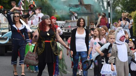 The Diss Carnival parade. Picture: DENISE BRADLEY