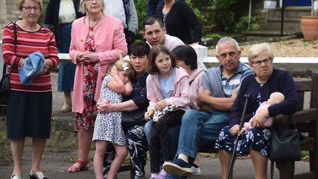 Spectators watching the Diss Carnival parade. Picture: DENISE BRADLEY