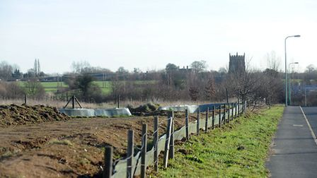 The site in Church Field Road in Sudbury earmarked for the proposed Prolog distribution site which