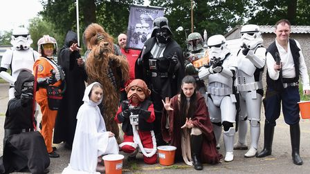 Norwich Star Wars group ready for the Diss Carnival parade. Picture: DENISE BRADLEY