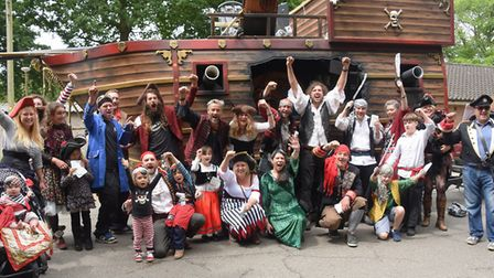 The Gig in the Park team of pirates ready for the Diss Carnival parade. Picture: DENISE BRADLEY