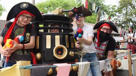 Dr Who space pirates ready for the Diss Carnival parade. Picture: DENISE BRADLEY