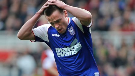 Paul Taylor, pictured during a rare Ipswich Town appearance.