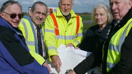 A120 safety campaign keeps the pressure on. TDC Leader Mick Page, Cllr Carlo Guglielmi, TDCs Engine