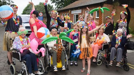 The De Lucy House Care Home team ready for the Diss Carnival parade. Picture: DENISE BRADLEY