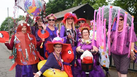The Firey Foxes of Diss ready for the Diss Carnival parade. Picture: DENISE BRADLEY