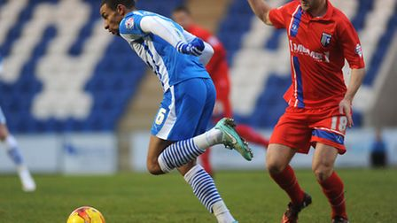 Craig Eastmond, in what proved to be his final game for the U's, against Gillingham on Boxing Day