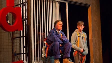 Robert Gill (Frank), Thomas Pickles (Alan) in Sign of the Times at the Theatre Royal, Bury St Edmun
