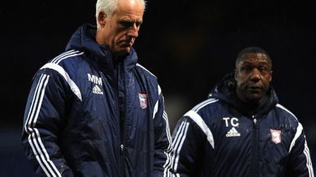 Ipswich Town v Wigan Athletic. Sky Bet Championship. Ipswich Town manager Mick McCarthy at the en