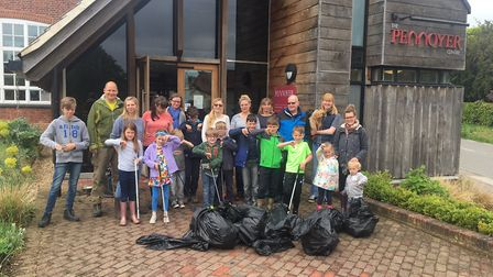 The Pennoyer Centre Litter Pick which was held as part of the South Norfolk Council's Big Litter Pic