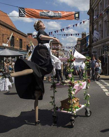 Antiques Bridie at last year's Harleston Antiques Street Market and Street Party. Picture: Ian Carst
