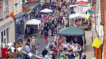 Harleston Antiques Street Market and Street Party. Picture: Ian Carstairs