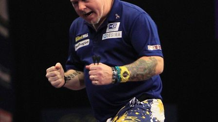 Peter 'Snakebite' Wright celebrates success during last year's Premier League Darts campaign