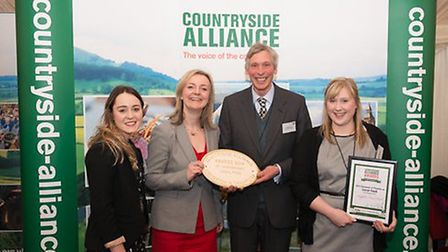 Oliver Paul of Suffolk Food Hall receiving the Countryside Alliance Local Food Champion of Champions