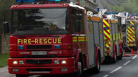 Fire crews rescue men from flooded ford