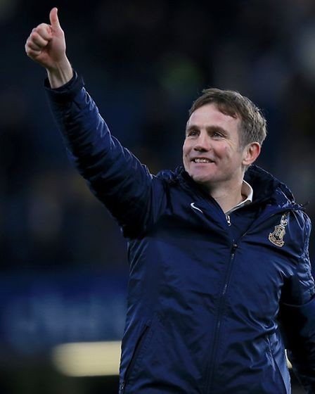 Bradford boss Phil Parkinson, who was unhappy with the state of the Bradford pitch today