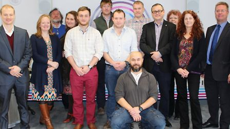 Digby Chacksfield Eastern Enterprise Hub CEO (middle row fourth from the right), John Matthews chart