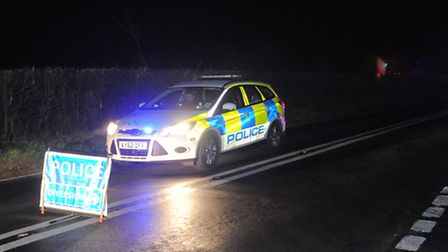 Fire crews worked to free trapped motorists after a crash near the village of Assington